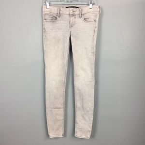 Express Stella Low Rise Ankle Skinny Gray Jeans